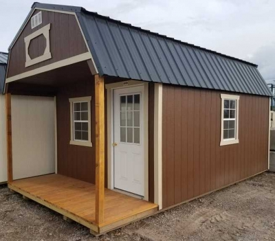 18 12x20 Playhouse Lofted Barn Cache Valley Sheds